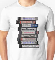 80's Wrestling VHS Tapes Unisex T-Shirt