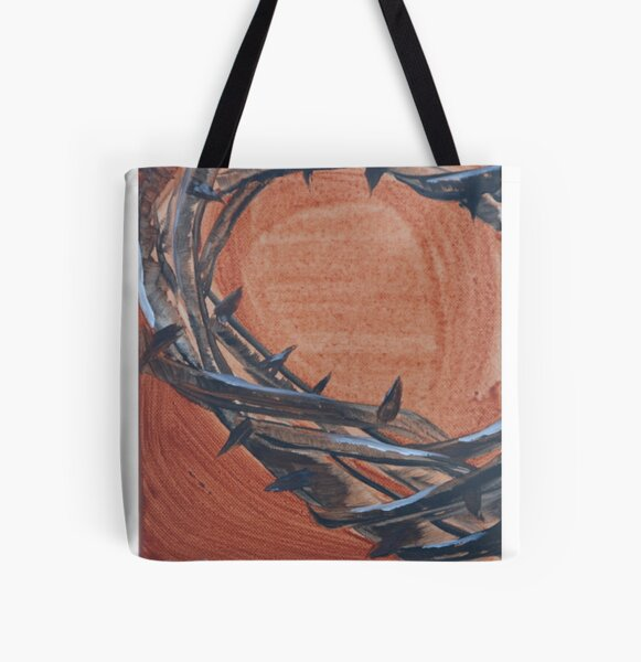 Crown of Thorns All Over Print Tote Bag