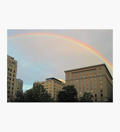 rainbow in montreal Photographic Print