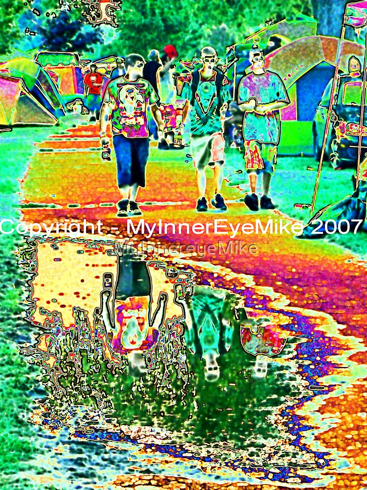 """#186  """"Puddled At The Vibes""""  Gathering Of The Vibes Poster  '07 by MyInnereyeMike"""