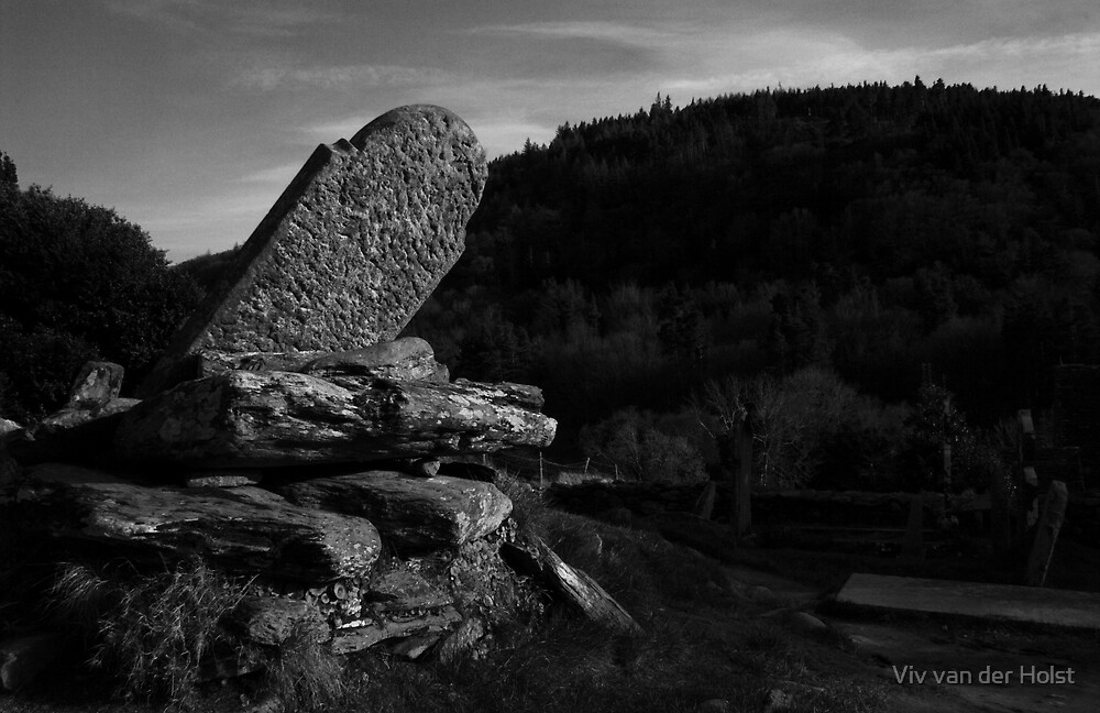 Gravestone in Wicklow Ireland by Viv van der Holst