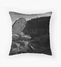 Gravestone in Wicklow Ireland Throw Pillow