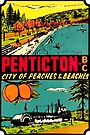 Penticton British Columbia BC Vintage Travel Decal by hilda74