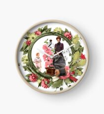 Flowers And Phonographs Clock