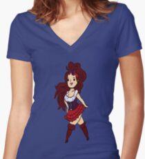 Damsel Girl Women's Fitted V-Neck T-Shirt