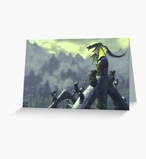 Skyrim- Dragon Attack Greeting Card