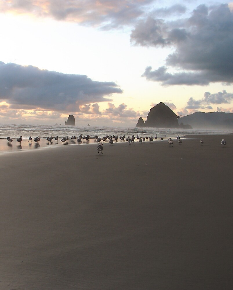 Haystack Rock by Amy Ruane