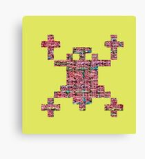 SPACE INVADERS. THE OPPOSITE OF SPACE RESPECTERS Canvas Print