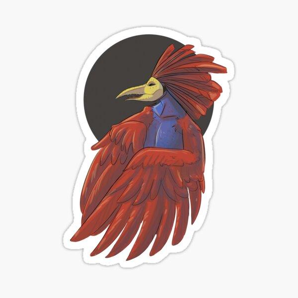 Gallo with mask Sticker