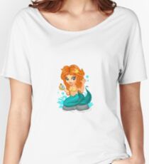 A Cute little mermaid and a compass Women's Relaxed Fit T-Shirt