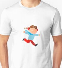 A girl skating on ice Unisex T-Shirt