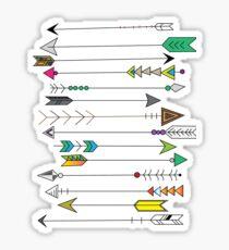 Feather Head Arrows Sticker
