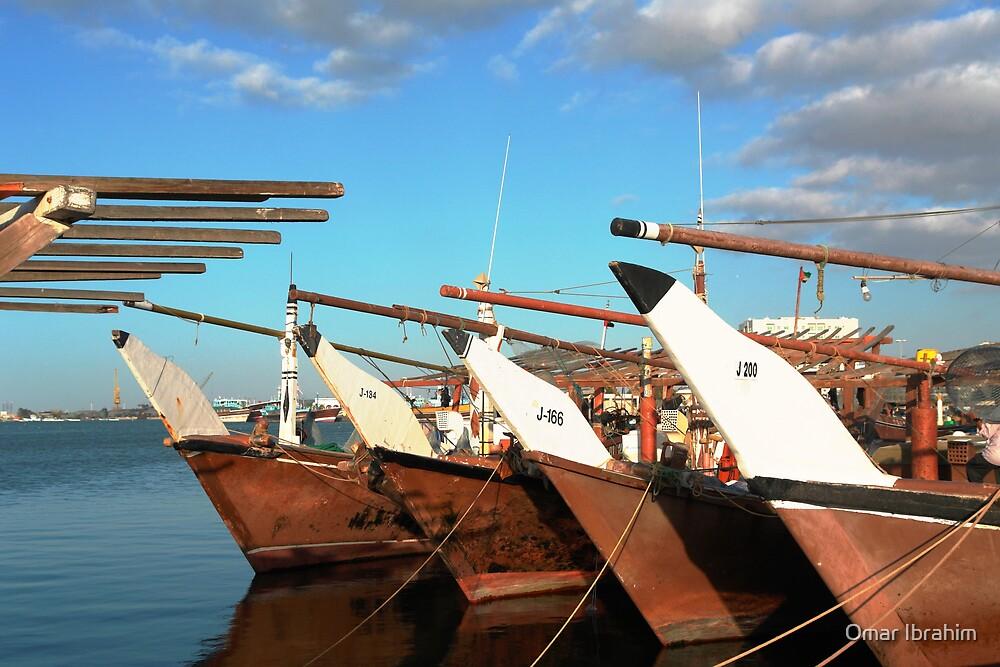 Arabian ships by Omar Ibrahim
