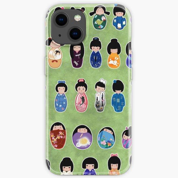 Creative Kokeshi & Kimono Designs iPhone Soft Case