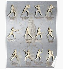 "Fiore dei Liberi Longsword Positions ""Getty"" Poster"