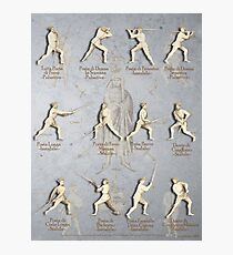 "Fiore dei Liberi Longsword Positions ""Getty"" Photographic Print"
