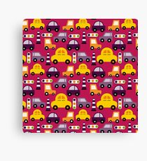Kids Car Traffic Jams  Canvas Print