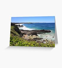 Volcanic coast of Kiama Greeting Card