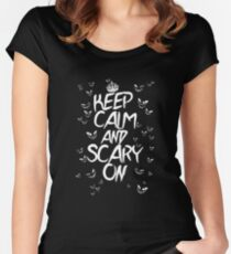 Keep Calm & Scary On Women's Fitted Scoop T-Shirt