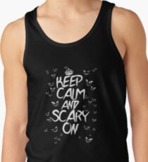 Keep Calm & Scary On Tank Top
