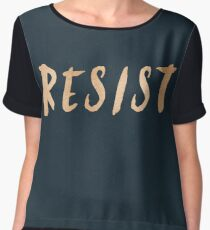 RESIST 7.0 - Rose Gold on Navy #resistance Women's Chiffon Top