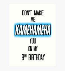 Ne me faites pas Kamehameha You (Version 2) Impression artistique