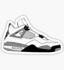 "Air Jordan IV (4) ""White Cement"" Sticker"