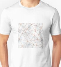 Marble Geometric Rose Gold Design T-Shirt