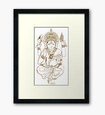 Lord Ganesh In Sketch Framed Print