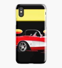 1959 Corvette 'Retro' Roadster iPhone Case/Skin