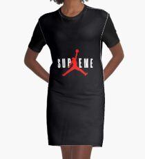 Red Dunker Graphic T-Shirt Dress