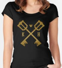 Crossed Kingdom Keys Women's Fitted Scoop T-Shirt