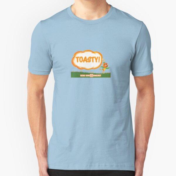 Kingdomcast Orange Bird Toasty logo Slim Fit T-Shirt