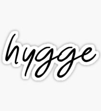 Hygge - Black Handwritten Typography Design Sticker