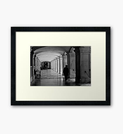 Pacing the cloister - Hampton Court Palace - London UK Framed Print