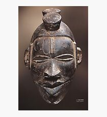 African tribal mask of Ogoni people in Nigeria Photographic Print