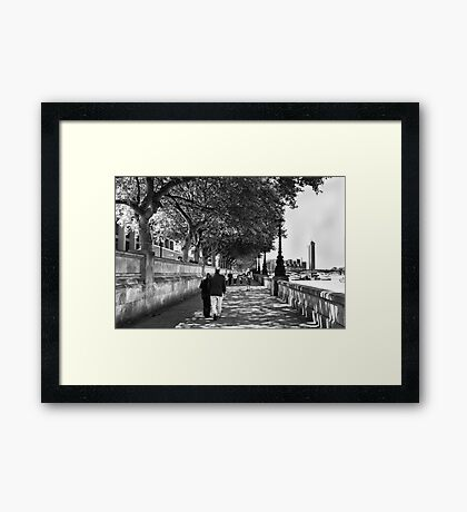 By the Thames - London, England Framed Print