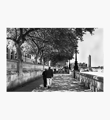 By the Thames - London, England Photographic Print