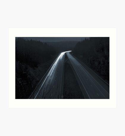 Autobahn Art Print