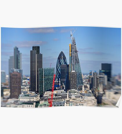 Gherkin and cheese grater - London UK Poster