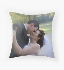 Sweet Romantic Embrace Throw Pillow