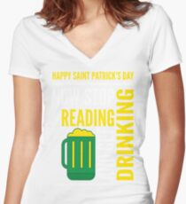Saint Patrick's Day fun Women's Fitted V-Neck T-Shirt