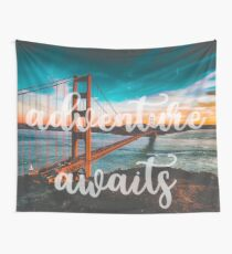 ADVENTURE AWAITS - wall tapestry - travel - water - landscape nature photography tapestries love Wall Tapestry