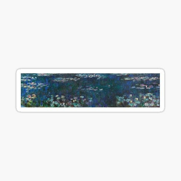 Claude Monet - The Water Lilies - Green Reflections (1915 - 1926) Sticker