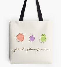 Peach Plum Pear Tote Bag