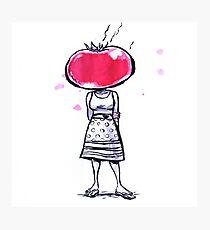 Tomato Face Photographic Print
