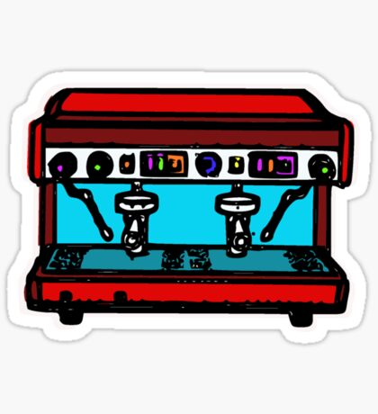 coffee machine Sticker