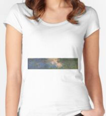 Claude Monet - The Water-Lily Pond 1914 Women's Fitted Scoop T-Shirt