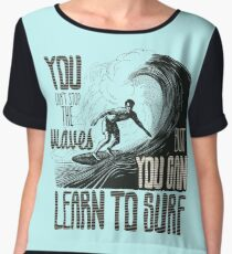 Cool Surfing design - Surfer Beach Waves Women's Chiffon Top