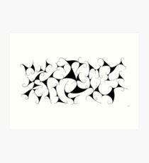 Kalatonius V1 - fancy grapevine / black Art Print